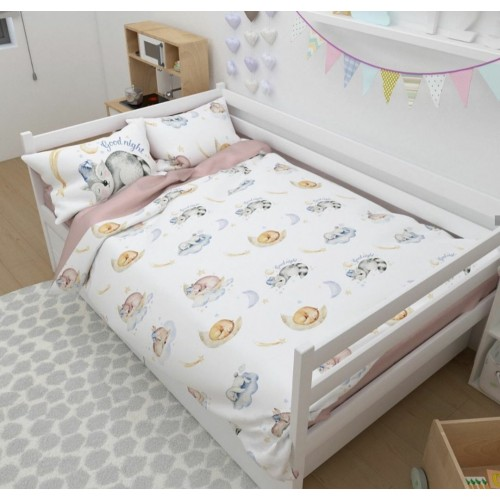 Комплект постельного белья c эксклюзивным принтом бренда