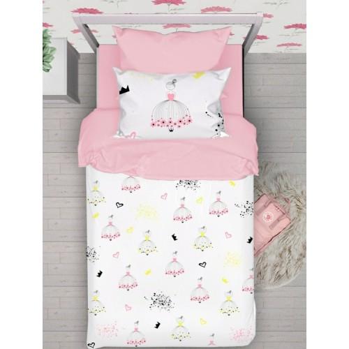 Комплект постельного белья с эксклюзивным принтом с принцессами